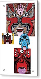 Acrylic Print featuring the painting Peking Opera No.1 by Fei A