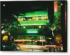 Acrylic Print featuring the photograph Pelican Hotel Film Image by Gary Dean Mercer Clark