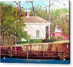 Pelleteir House 1850 Acrylic Print by Jim Phillips