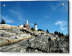 Pemaquid Point Acrylic Print by Alan Russo