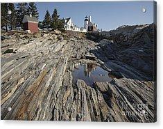 Pemaquid Point Light - Bristol Maine Acrylic Print by Erin Paul Donovan