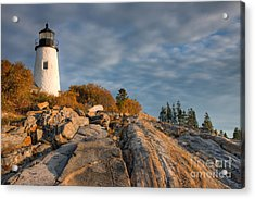 Pemaquid Point Light Vi Acrylic Print by Clarence Holmes