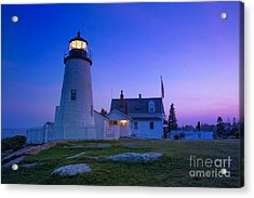 Pemaquid Point Lighthouse At Sunset Acrylic Print