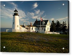 Pemaquid Point Lighthouse At Sunset Acrylic Print by Gordon Ripley