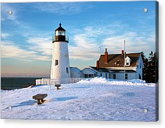 Pemaquid Point Lighthouse Acrylic Print by Eric Gendron