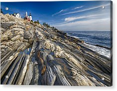 Pemaquid Point Scenic Maine Acrylic Print by George Oze