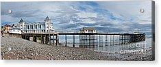 Penarth Pier Panorama 1 Acrylic Print by Steve Purnell
