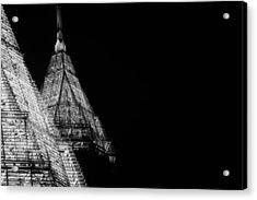 Pencil Building In Duplicate Acrylic Print by Lisa Marie Pane
