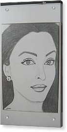 Pencil Drawing Acrylic Print by Rejeena Niaz