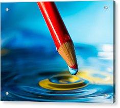 Pencil Water Drop Acrylic Print