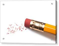 Pencil Eraser Acrylic Print by T_kimura