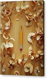 Pencil Sharpened Down To A Stub Acrylic Print by Joseph Clark