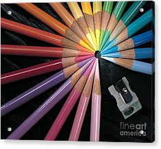Pencils Acrylic Print by Gary Gingrich Galleries
