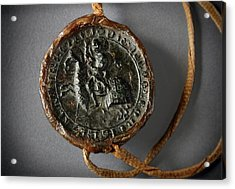 Pendent Wax Seal Of The Council Of Calahorra Acrylic Print by RicardMN Photography