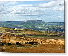 Acrylic Print featuring the photograph Pendle Hill Lancashire by Jane McIlroy