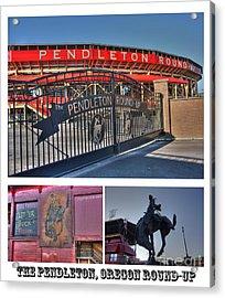 Pendleton Round-up Acrylic Print by David Bearden