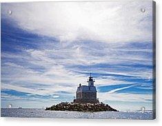 Penfield Reef Lighthouse Fairfield Connecticut Acrylic Print by Stephanie McDowell