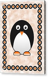Penguin - Birds - Art For Kids Acrylic Print