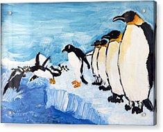 Penguins Acrylic Print by Ethan Altshuler