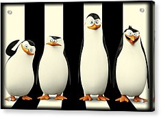 Penguins Of Madagascar Acrylic Print