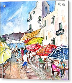 Peniscola Old Town 01 Acrylic Print by Miki De Goodaboom
