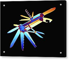 Penknife Acrylic Print by Alfred Pasieka