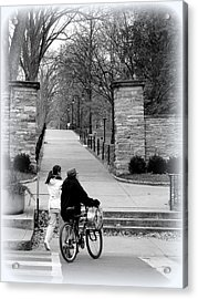 Penn State University Transportation Acrylic Print by Mary Beth Landis