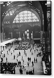 Penn Station Nyc 1957 Acrylic Print by Van D Bucher