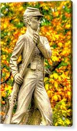 Pennsylvania At Gettysburg - 23rd Pa Volunteer Infantry Birneys Zouaves - Close A Acrylic Print
