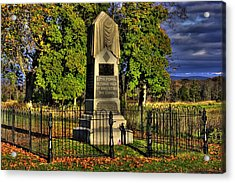 Pennsylvania At Gettysburg - 57th Pa Veteran Volunteer Infantry Sunrise Autumn Steinwehr Avenue Acrylic Print by Michael Mazaika