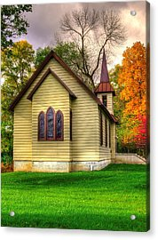 Pennsylvania Country Churches - Heckton Church At Fort Hunter Autumn - Dauphin County Acrylic Print