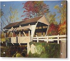 Pennsylvania Covered Bridge Acrylic Print by Barbara McDevitt