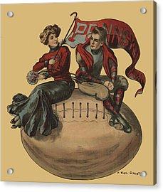 Pennsylvania Football Acrylic Print by F Earl Christy