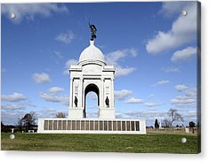 Pennsylvania Memorial At Gettysburg Battlefield Acrylic Print by Brendan Reals