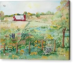 Pennsylvania Pasture Acrylic Print by Christine Lathrop