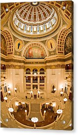 Pennsylvania State Capitol Dome And Rotunda Acrylic Print by Frank Tozier