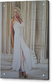 Penny For You Thoughts Acrylic Print by Charlotte Hastings
