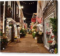 Penny Lane At Night - Rehoboth Beach Delaware Acrylic Print