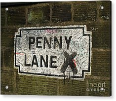 Penny Lane Is In My Heart Acrylic Print by Alan Wynne