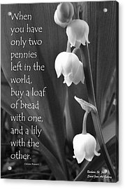 Penny Lily Acrylic Print