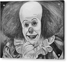 Pennywise Acrylic Print by Jeremy Moore