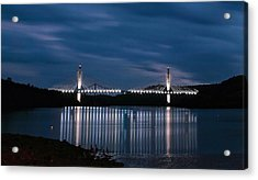 Penobscot Narrows Bridge And Observatory At Night Acrylic Print