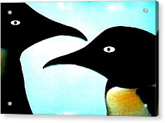 Penquin Love Acrylic Print