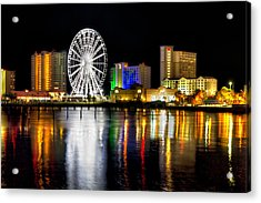 Acrylic Print featuring the photograph Pensacola Beach Skyline by Tim Stanley