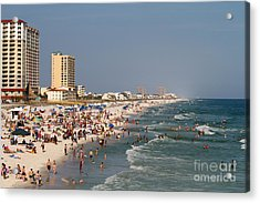 Pensacola Beach Tourists Acrylic Print
