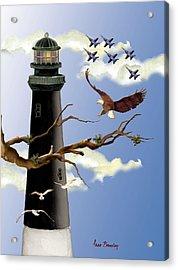 Pensacola Light House Tower Acrylic Print