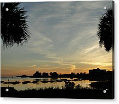 Pensacola Sunset Acrylic Print by Cindy Croal