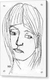 Pensive Girl Acrylic Print