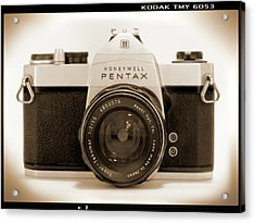 Pentax Spotmatic IIa Camera Acrylic Print by Mike McGlothlen