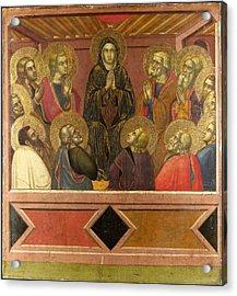 Pentecost Acrylic Print by Barnaba da Modena